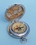 Dalvey Modern Explorer Pocket Compass World Map on Inside Lid
