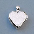 Elegant Heart Silver Compass Locket with Cover Closed