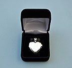 Elegant Heart Design Silver Compass Locket in Hinged Gift Box