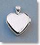 Elegant Heart Design Sterling Silver Compass Locket