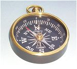 Black Powder Coated Brass Pocket Compass