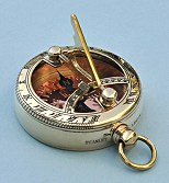 Pocket Sundial Compass with Copper Compass Rose