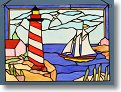 Hand Cut Nautical Stained Glass