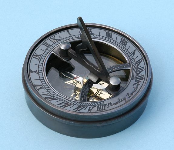 Pocket Sundial with Antique Patina